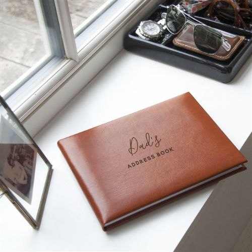 Personalised Tan Address Book